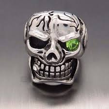 steel skull rings images Skull ring with crystal eye oz biker gear jpg