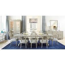 gretta hollywood regency adjustable steel inlay dining table