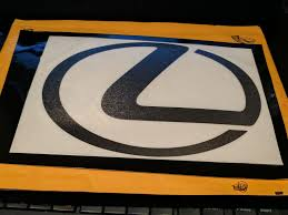 lexus is300 front grill emblem anyone buy the reflective vinyl front grill logo yet page 2
