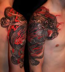 my japanese shoulder piece dragon finished yesterday by chris
