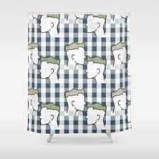 Green Plaid Shower Curtain Gingham Shower Curtains Society6