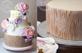 wedding cake tutorial tree bark woodgrain tree stump cake tutorials cake magazine