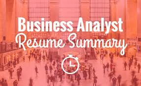 quickly get your business analyst resume noticed with a