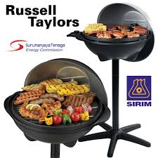 Outdoor Electric Grill Russell Taylors Electric Indoor Outdoor Bbq Grill Eb 10 Lazada