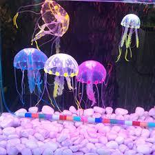 5 cm artificial silicone jellyfish for fish aquarium