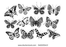 free butterfly vector silhouettes free vector