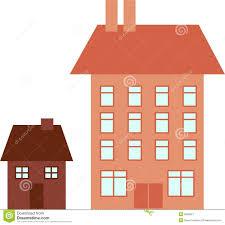 big house little house stock image image 5566051
