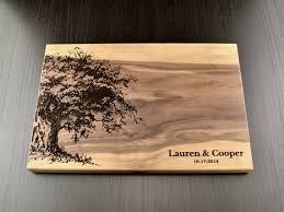 custom wedding presents personalized cutting board custom wedding gift housewarming