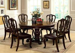 preston ridge round pedestal table dining set black round pedestal