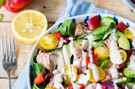 keep it fresh and beautiful with tuna salad chipotle dressing