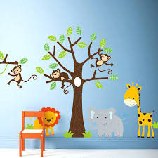 Jungle Wall Decal For Nursery Jungle Tree Wall Decals Gutesleben