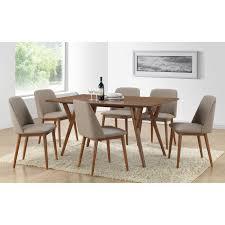euro style tosca 5 piece walnut dining table set tosca grey