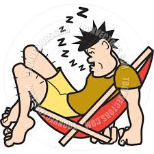 Sleeping In A Chair Cartoon Man Sleeping In Chair Vector Illustration By Clip Art Guy