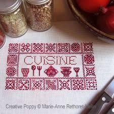point de croix cuisine modèles de point de croix pour la cuisine vin fruits recettes