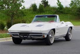 stingray corvette 1963 1963 chevrolet corvette convertible 157595