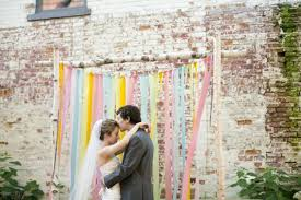 wedding backdrop altar say i do to these 15 ribbon backdrops brit co