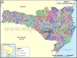 santa map santa catarina map state of santa catarina