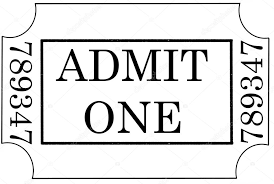 admit one ticket template