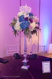 tall floral centerpiece bat mitzvah royalty queen princess