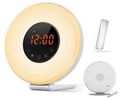 best light up alarm clock best deal wake up light salute sunrise simulator alarm clock for