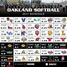 Oakland University Map Goldengrizzlies Com Oakland Softball Announces 2017 Schedule