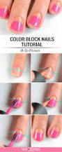 11 super easy nail designs diy tutorials color block nails nail