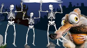 ice age 5 squirrel scary skeleton dance cartoon for children