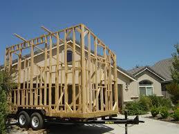 tiny trailer house framed by bill lumberjocks com