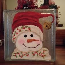 255 best Christmas glass blocks images on Pinterest
