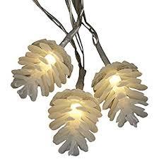 philips pine cone string lights amazon com kurt adler 10 light clear pinecone light set home kitchen