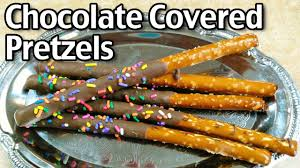 Where To Buy Chocolate Covered Pretzel Rods How To Make Chocolate Covered Pretzels Youtube