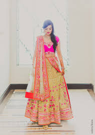 lengha choli for engagement hot pink and gold engagement in delhi gold lehenga designs and