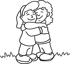 group of friends hugging clipart