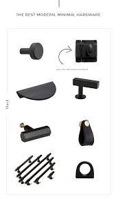 kitchen cabinet knobs black and white the best modern minimal cabinet hardware the identité
