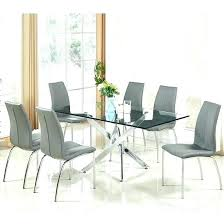 Glass Dining Tables And 6 Chairs Grey Dining Table And 6 Chairs Glass Dining Table In High Gloss