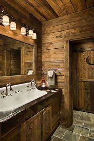 bathroom calm rustic bathroom design with plaid brown frosted