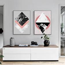 Nordic Home Decor 2018 3 Paintings For Simple Color Shapes Nordic Home Decor