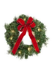 pre lit wreath home accents 22 in pre lit wreath set of 3 belk
