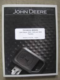 john deere 1020 1120 1630 tractor technical manual tm 4286