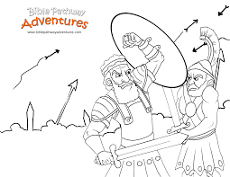 free bible story coloring page israelites fight the assyrians