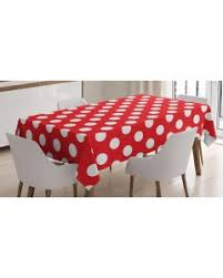 red white polka dot table covers green tablecloth pop art retro style dots printed table cover