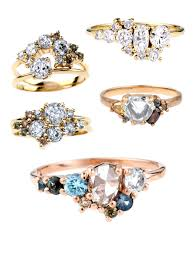 cluster rings the new romantics custom ombré cluster rings bario neal