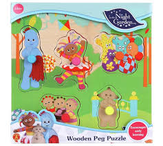 buy night garden pick place wooden puzzle argos