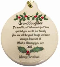 grandson 2017 porcelain ornament gift boxed rhinestone
