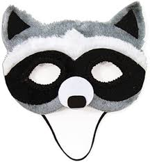 child u0027s animal critter forest raccoon half mask costume accessory