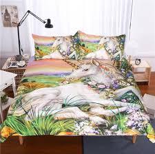 beddingoutlet 3d unicorn bedding set queen size watercolor print