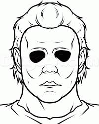 draw michael myers easy step step drawing sheets added