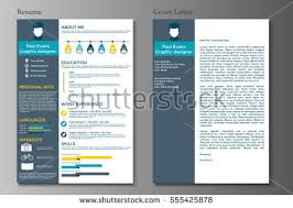 Resume Background Image Resume Cover Letter Flat Style Design Stock Vector 555425878