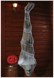 72in cocoon corpse hanging decoration scary spiderweb halloween