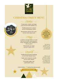 christmas party menu for groups of six or more available monday